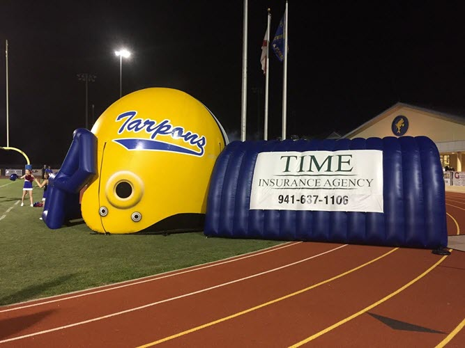 Charlotte High School Football Tunnel Donation